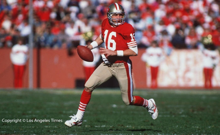And here's to you, Joe Montana