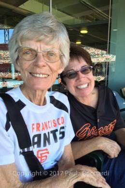 Giants game, August 12, 2015_Mom, Paula
