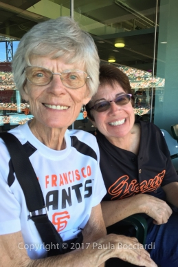 Giants game, August 12, 2015_Mom, Paula