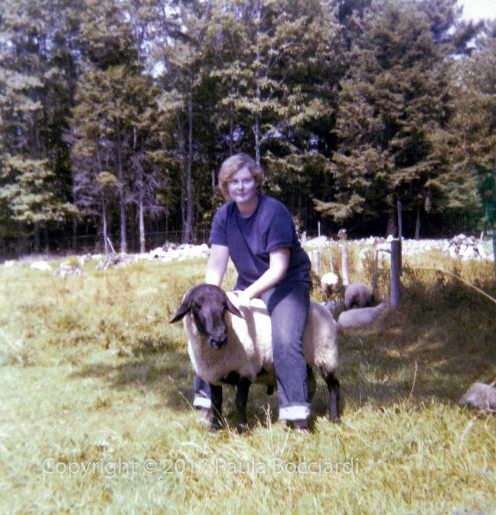 1976_Maine_Jeanne Andrishok and Bucky