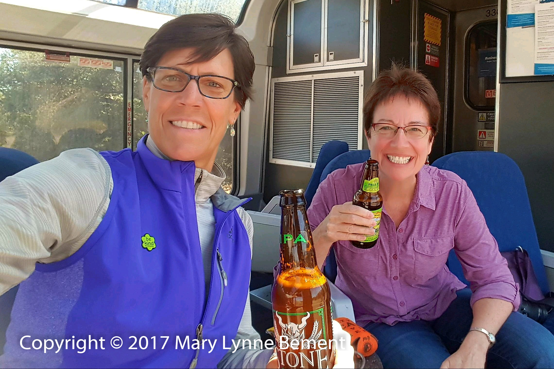020_Coast Starlight train trip, September 2017_Parlour Car_ML, Paula