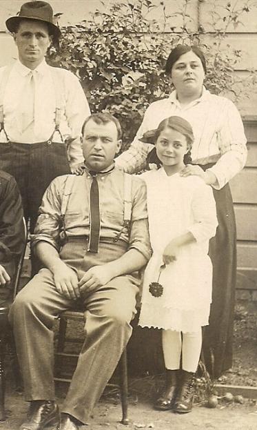 1916_(L to R)_Giannina Corti, Gino Corti, Rizzieri Matteucci, Gustavo Bocciardi, Marie Bocciardi, Ambrogia Bocciardi-[edited for blog]