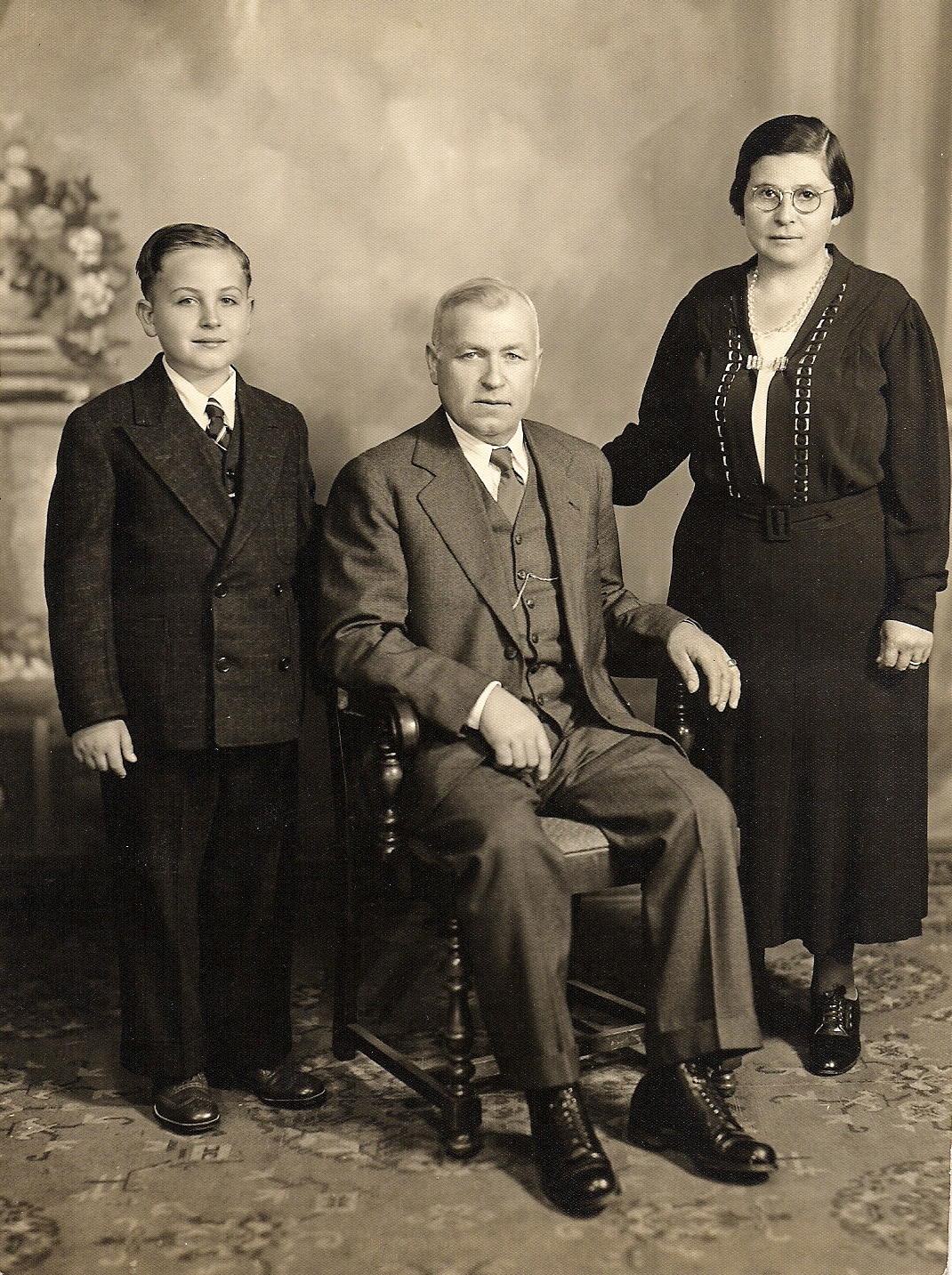 1937_12_Dad, Gustavo and Ambrogia Bocciardi-[edited for blog]