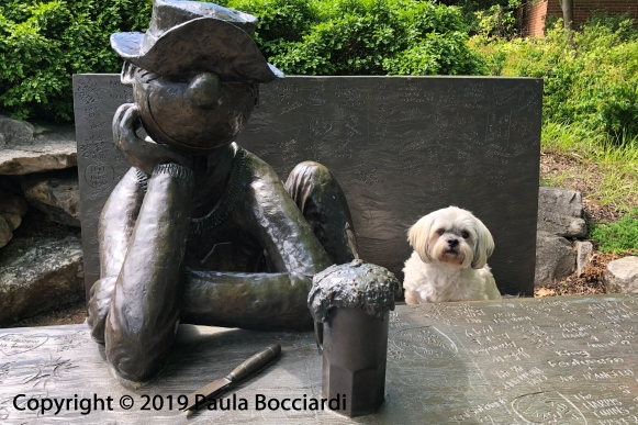 101_Buster_Beetle Bailey statue, University of Missouri_Columbia, MO_Road Trip, Spring 2019