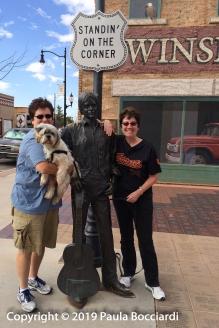 197_October 31_Winslow, Arizona_Julie, Buster, Paula