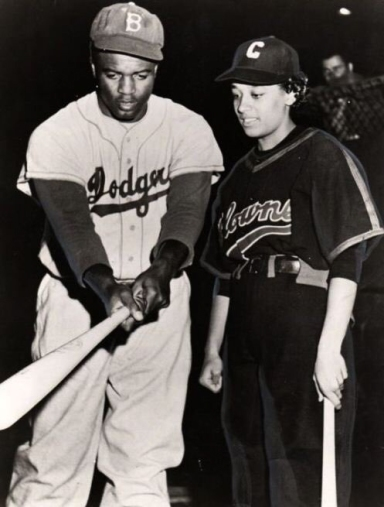 Jackie Robinson and Connie Morgan